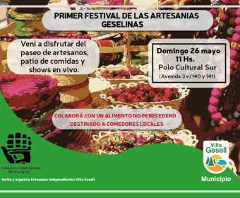 1er Festival artesanías geselinas
