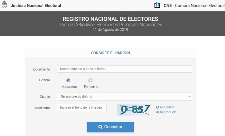 CNE - Padrón 2019